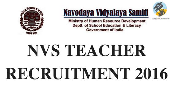 NVS Teachers Recruitment Apply Online at mecbsegov.in