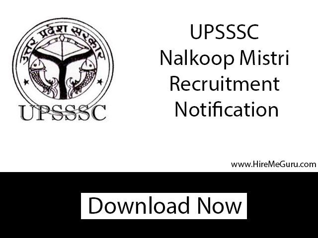 UPSSSC Nalkoop Mistri Recruitment Apply Online at upsssc.gov.in